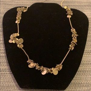 Anthropologie brass long necklace